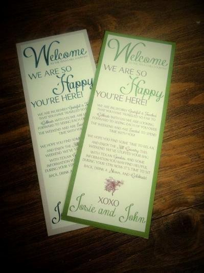 Sample Wedding Welcome Letter Luxury Wel E Bag for Destination Wedding