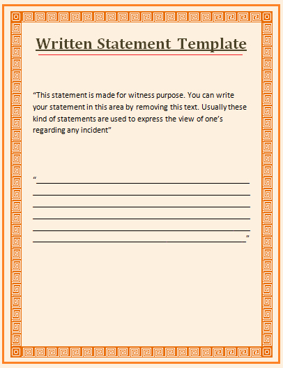 Sample Witness Statement form Beautiful Witness Statement Template Love to Add