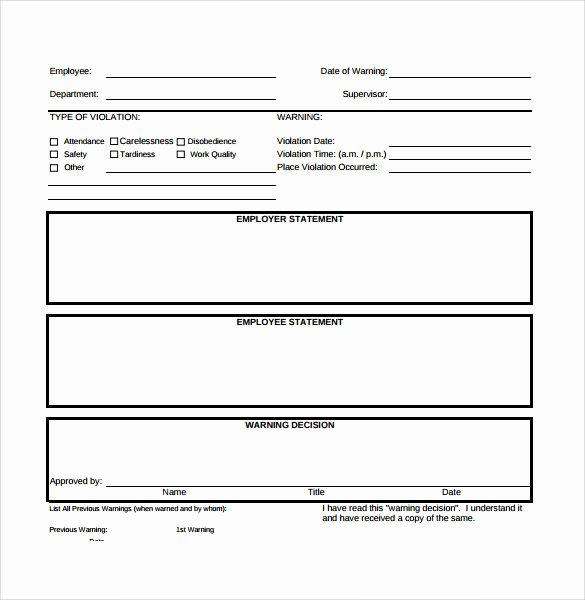 Sample Write Up for Employee Elegant Sample Employee Write Up form 7 Documents In Pdf