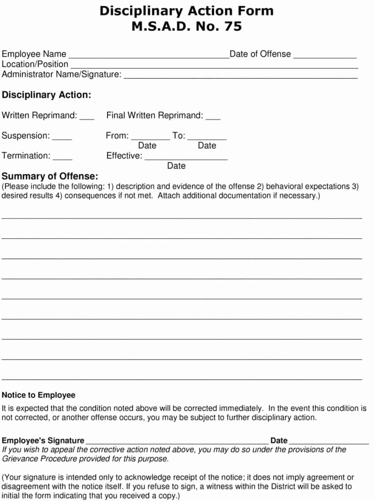 Sample Write Up for Employee Lovely 23 Employee Write Up form Free Download [word Pdf]