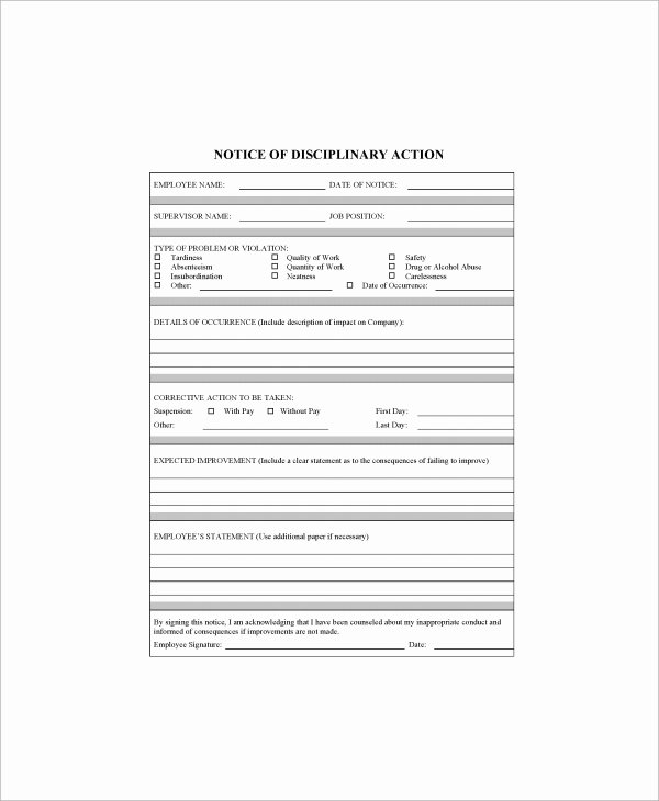 Sample Write Up for Employee Lovely Sample Employee Write Up form 7 Documents In Pdf