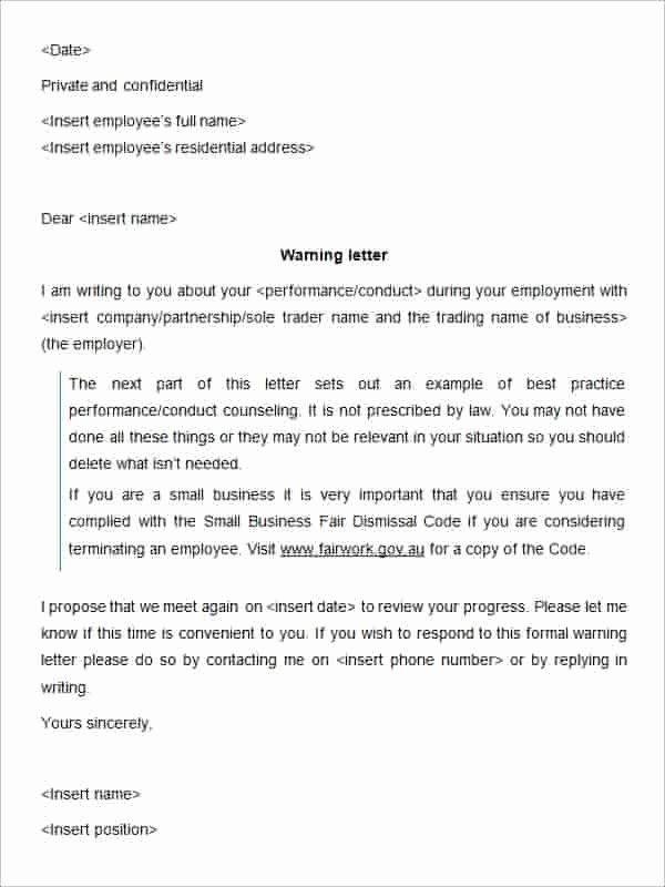 Sample Written Warning Letter Luxury 27 Hr Warning Letters Pdf Doc Apple Pages Google