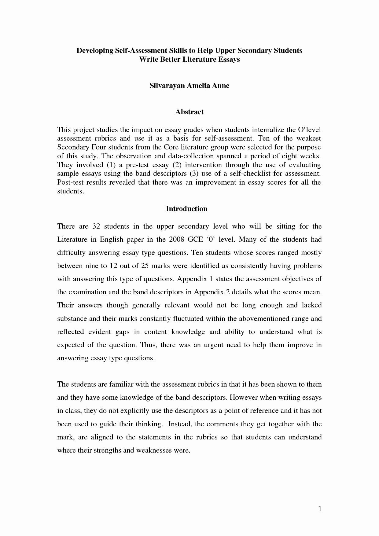 Samples Of Apa format Best Of Apa Essay format Samples