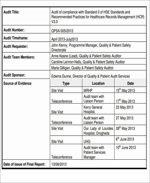 Samples Of Audit Report Best Of 17 Audit Report Samples Docs Pdf Pages