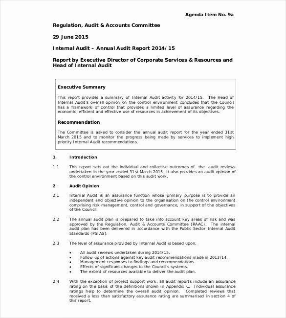 Samples Of Audit Report Elegant 31 Audit Report Templates Free Sample Pdf Word format