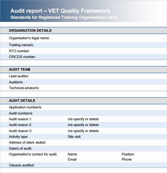 Samples Of Audit Report Elegant Sample Audit Report 16 Documents In Pdf Word