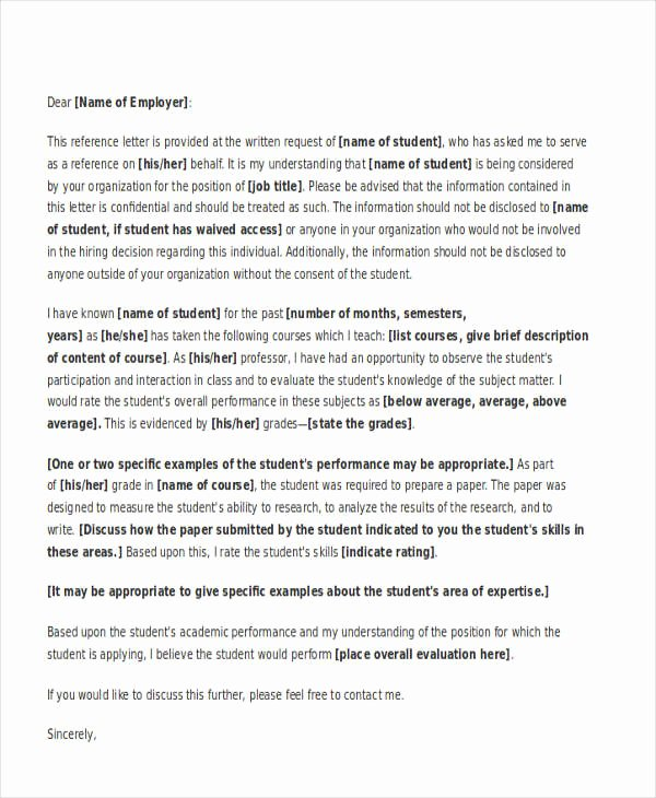 Samples Of College Recommendation Letters Best Of Academic Reference Letter Templates 5 Free Word Pdf