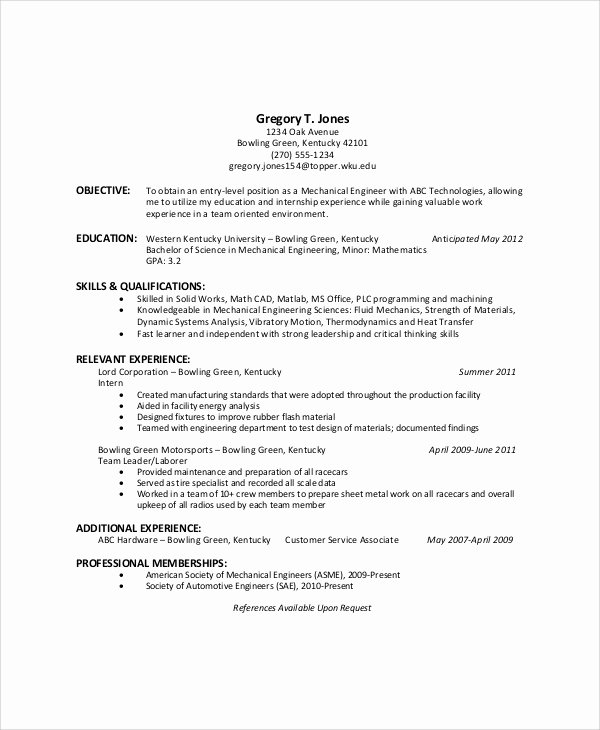 Samples Of Objective On Resume Inspirational Sample General Resume Objective 5 Documents In Pdf