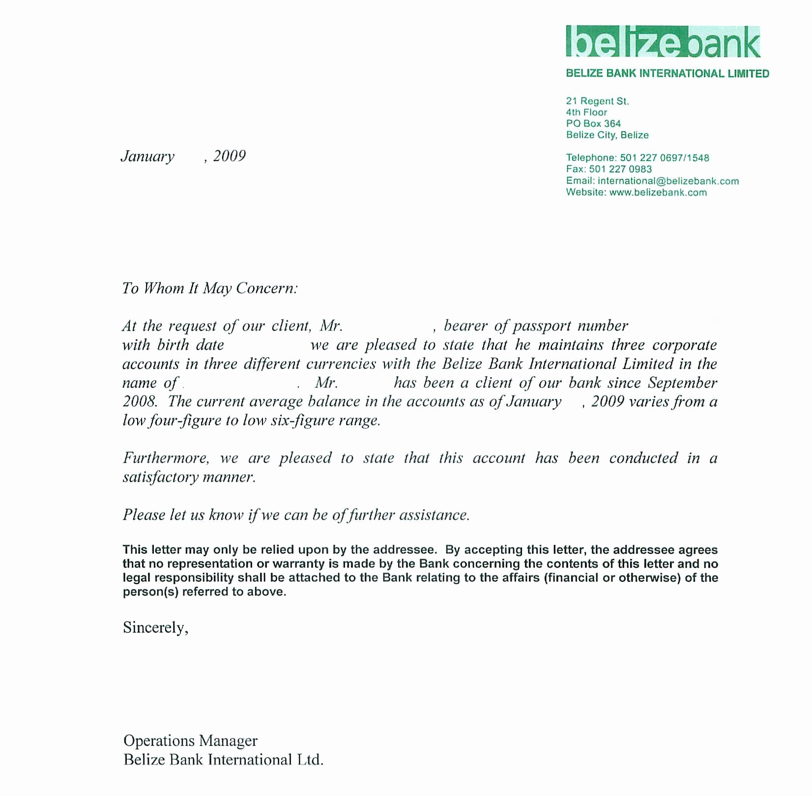 Samples Of Reference Letters Awesome Sample Bank Reference Letters