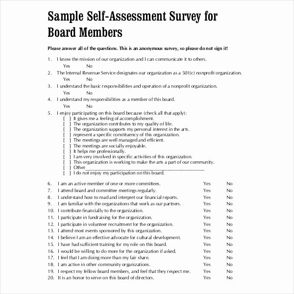 Samples Of Self Evaluations Awesome 10 Sample Self assessment forms