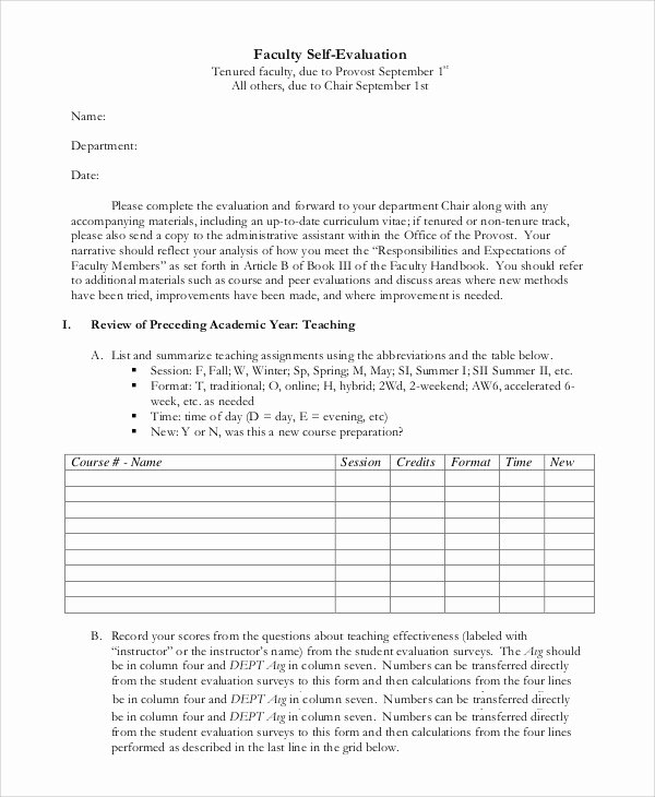 Samples Of Self Evaluations Elegant Sample Self Evaluation 10 Examples In Pdf Word
