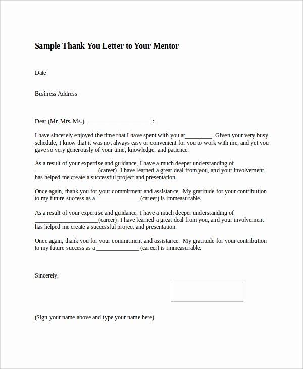 Samples Of Thankyou Letters New Sample Thank You Letter format 8 Examples In Word Pdf
