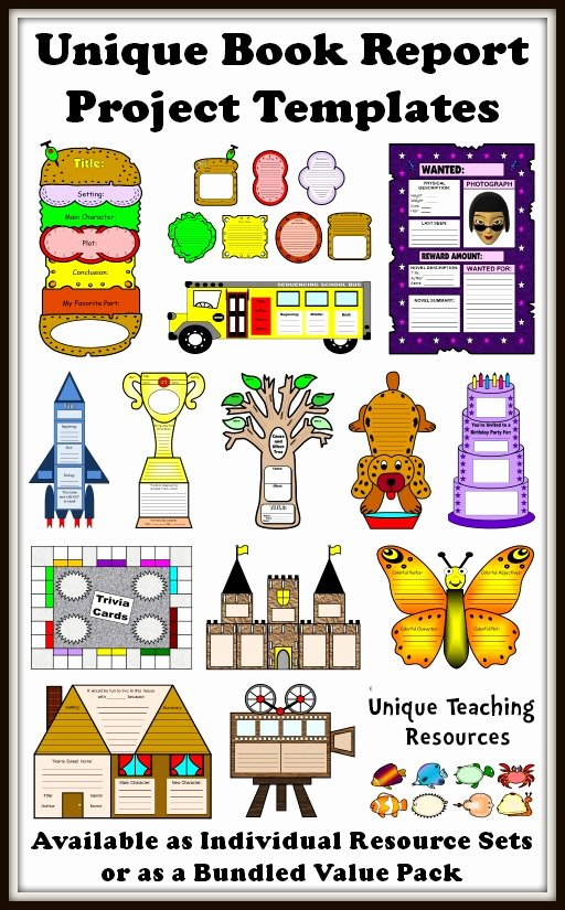 Sandwich Book Report Template Beautiful 25 Book Report Templates Extra Large Fun and Creative