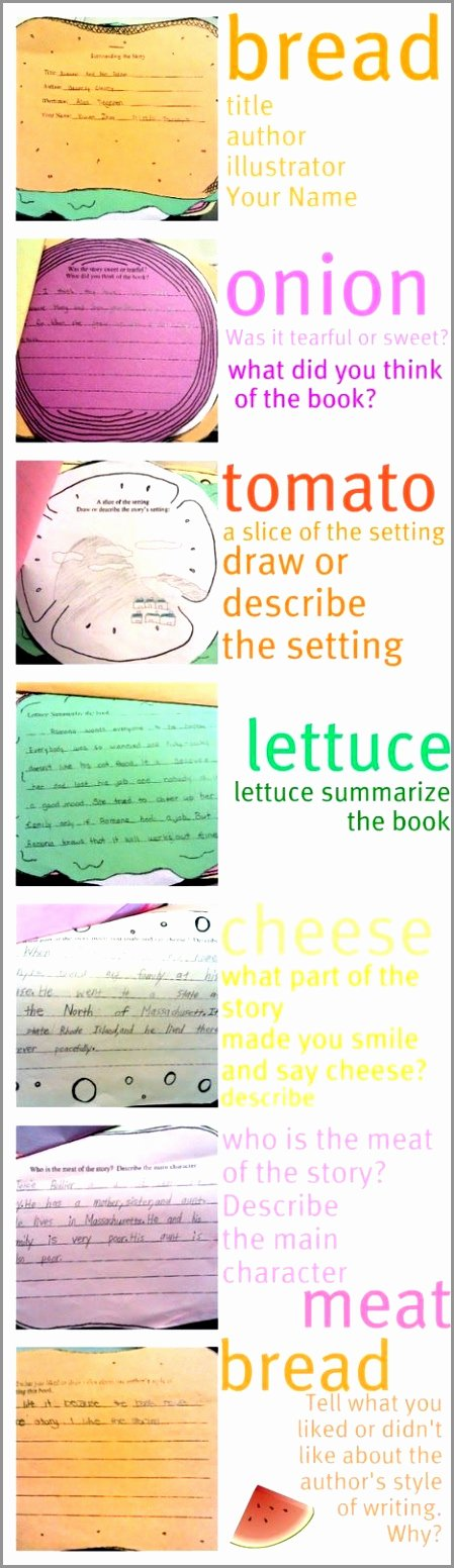 Sandwich Book Report Template Beautiful 9 Sandwich Book Report Template Free Wteyo