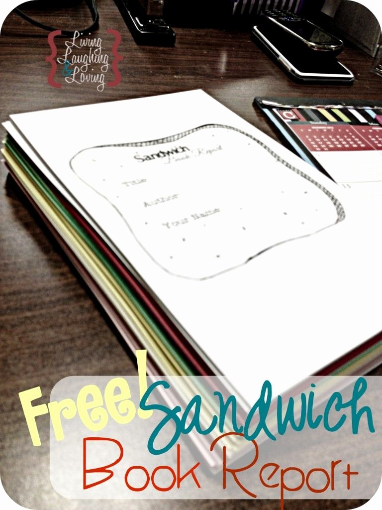 "Sandwich Book Report Template Best Of ""sandwich Book Report"" Template for A Book About A Famous"