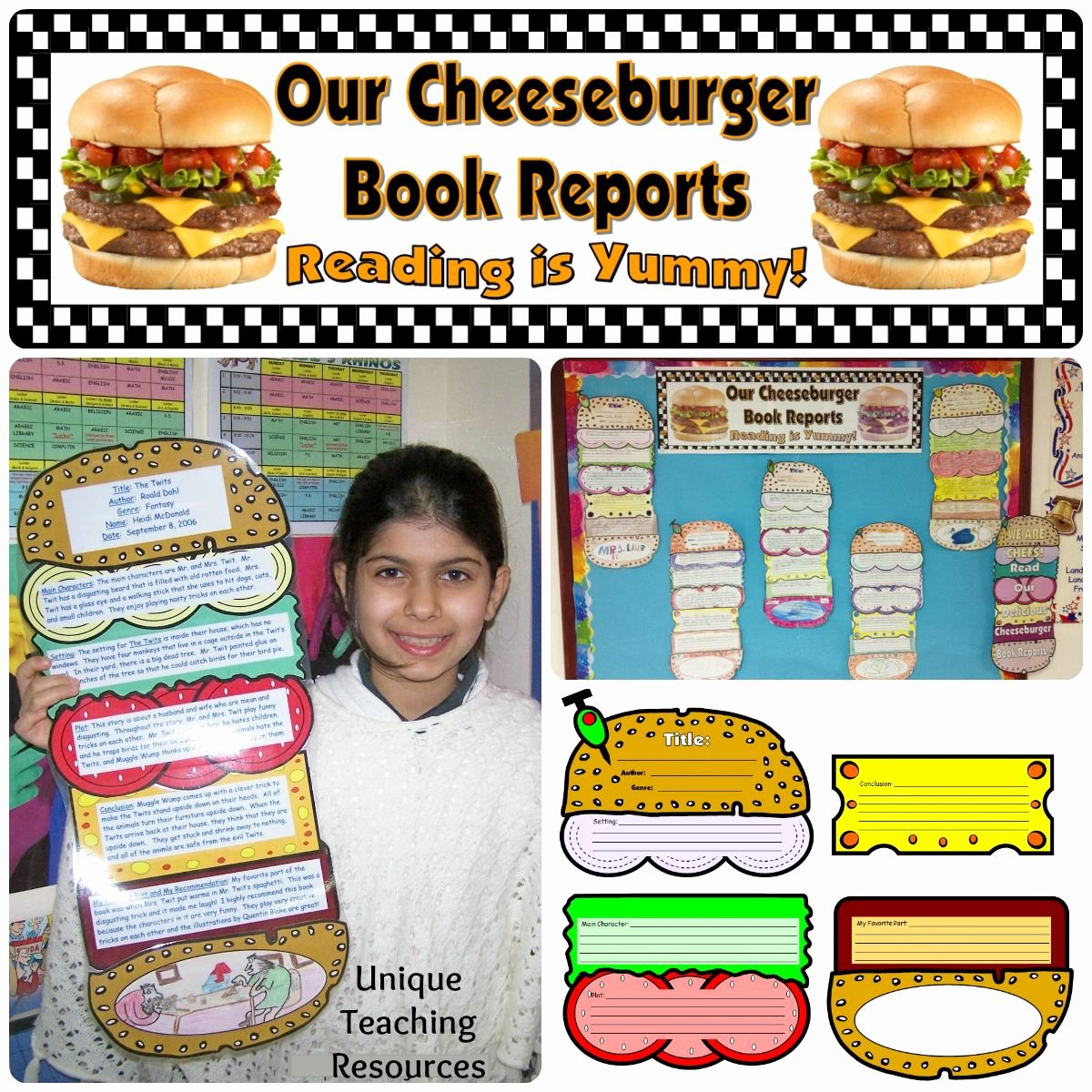 Sandwich Book Report Template Elegant Cheeseburger Book Report Project Templates Printable