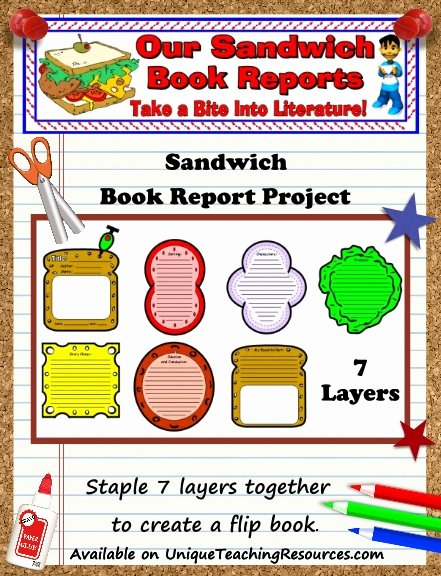 Sandwich Book Report Template Inspirational Sandwich Book Report Project Templates Printable