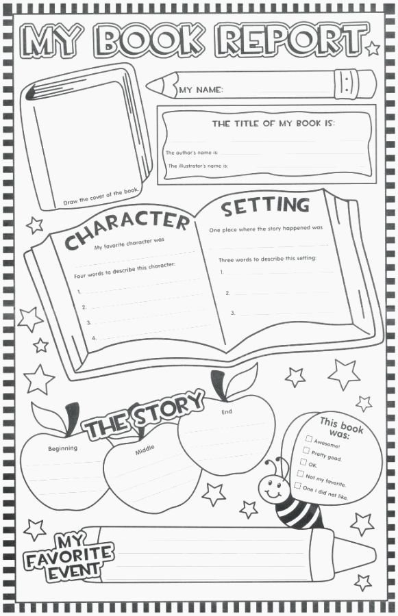 Sandwich Book Report Template New top 36 Ambitious 36st Grade Books Printable
