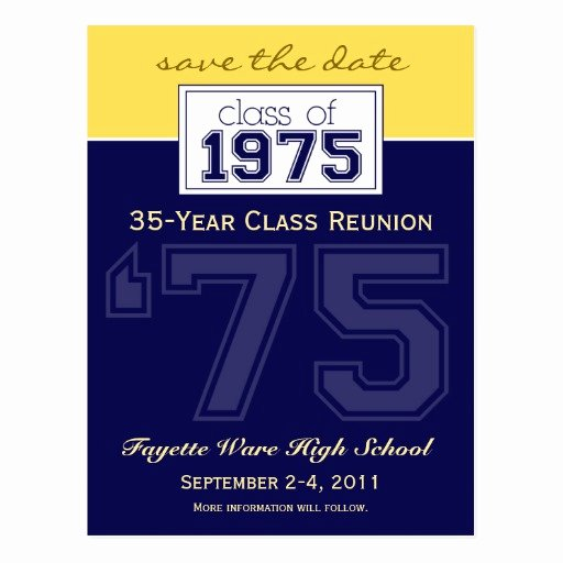 Save the Date Class Reunion Awesome Custom Class Reunion Save the Date Announcement Postcard