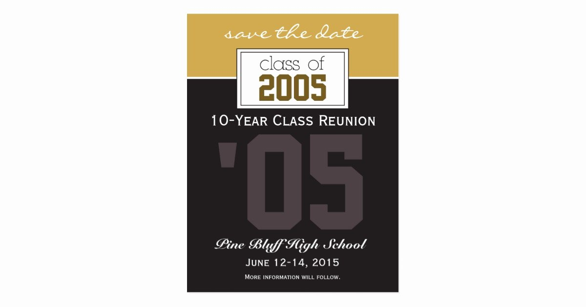 Save the Date Class Reunion Beautiful Custom Class Reunion Save the Date Announcement Postcard