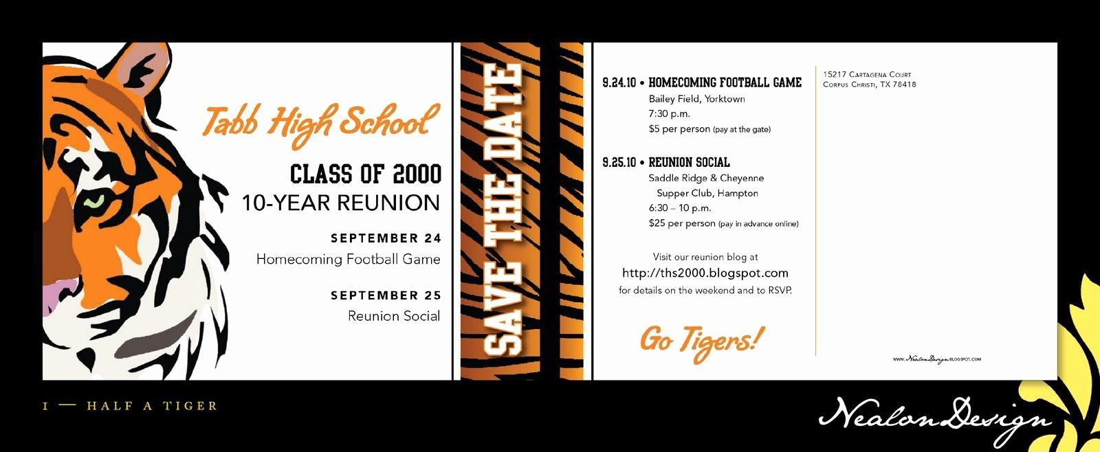 Save the Date Class Reunion Beautiful Nealon Design High School Reunion Save the Date