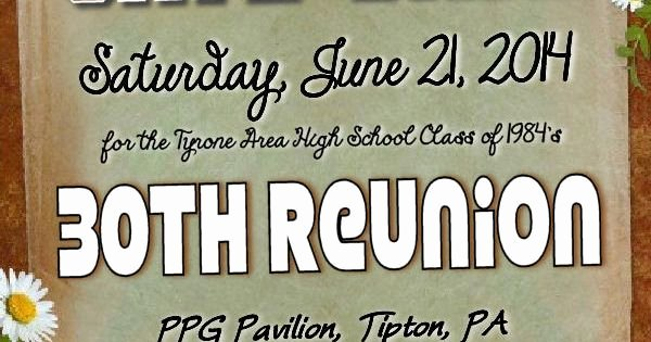 Save the Date Class Reunion Beautiful Save the Date the Tyrone area High School Class Of 1984 S