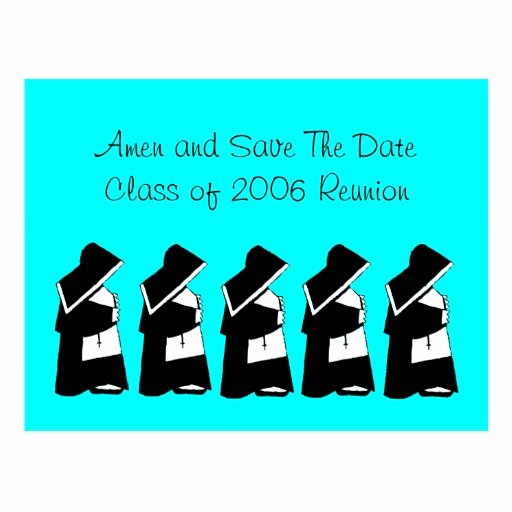 Save the Date Class Reunion Best Of Catholic School Reunion Save the Date Nun Custom Postcard