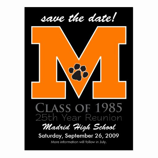 Save the Date Class Reunion Elegant Class Reunion Save the Date Postcards & Postcard Template