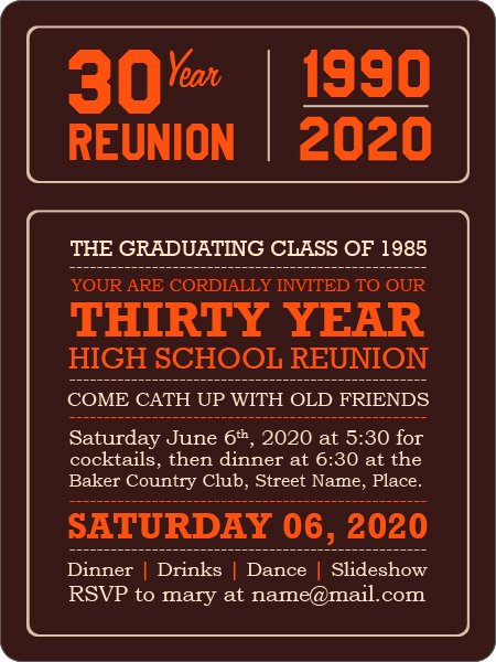 Save the Date Class Reunion Elegant School Reunion Magnets the Best Way to Get the Old Pals
