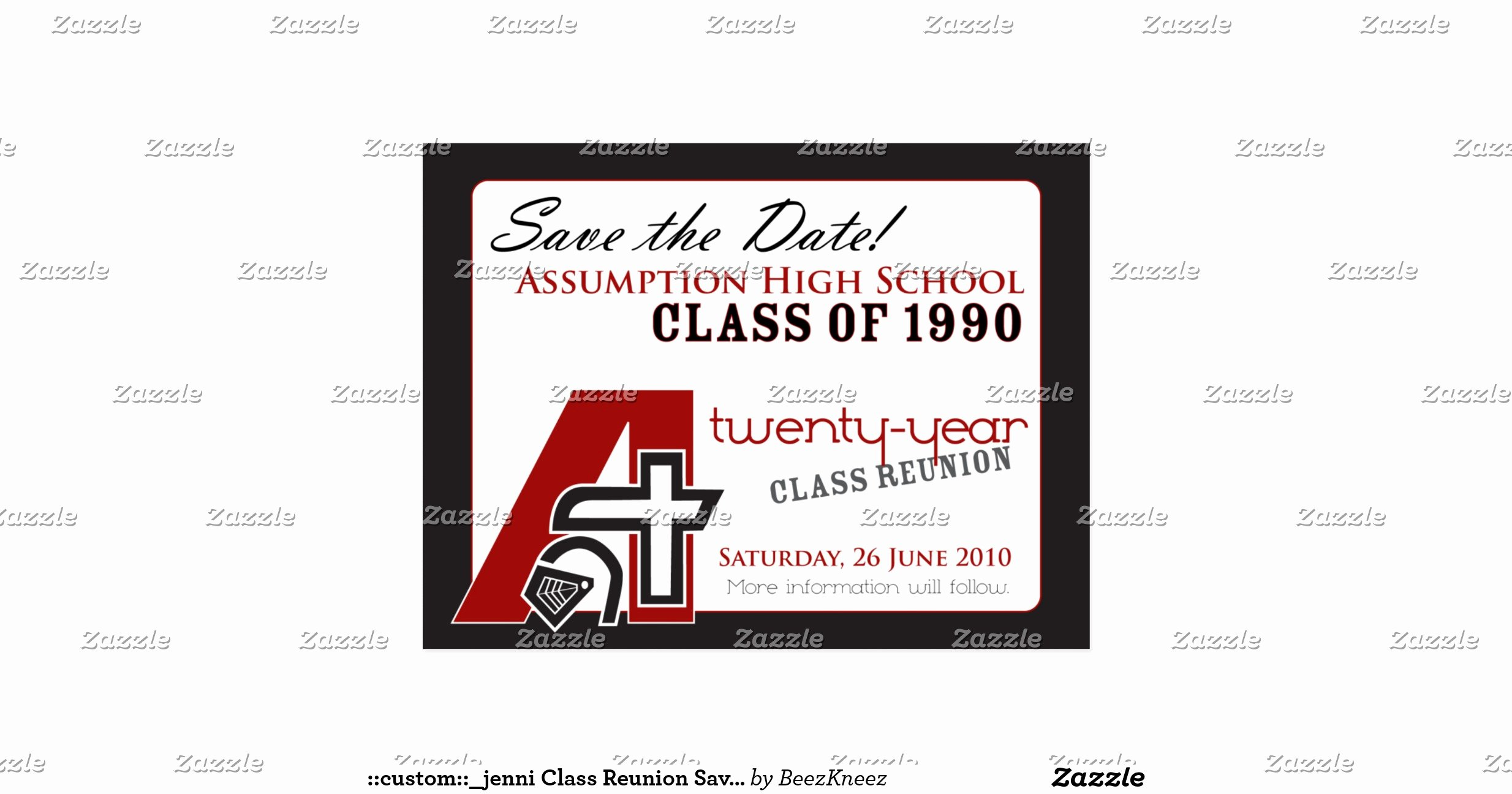 Save the Date Class Reunion Lovely Custom Jenni Class Reunion Save the Date V1 Postcard