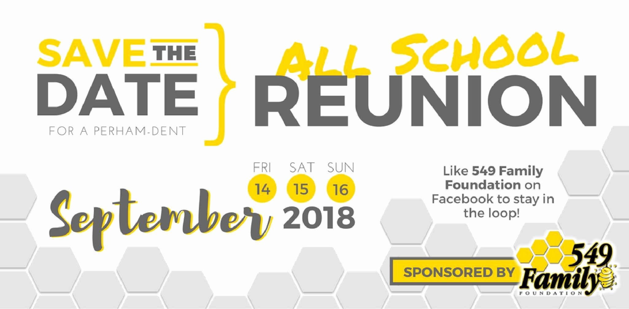Save the Date Class Reunion Luxury All School Reunion Save the Date Perham area Chamber