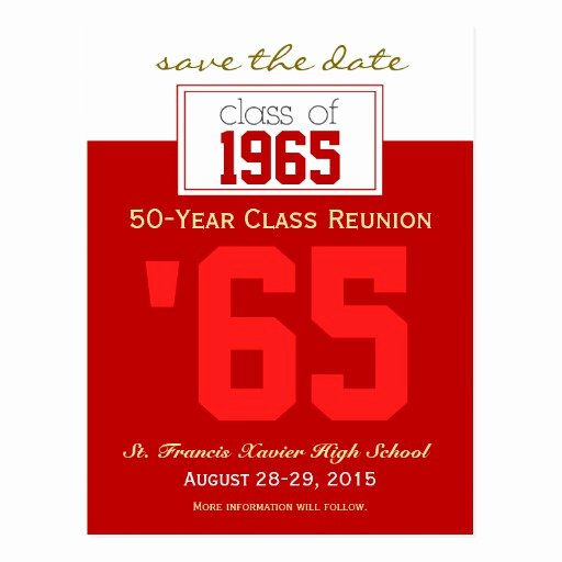 Save the Date Class Reunion Luxury Custom Class Reunion Save the Date Announcement Postcard