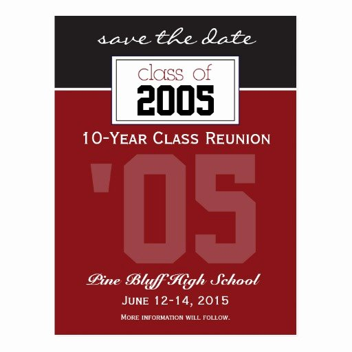 Save the Date Class Reunion New Custom Class Reunion Save the Date Announcement