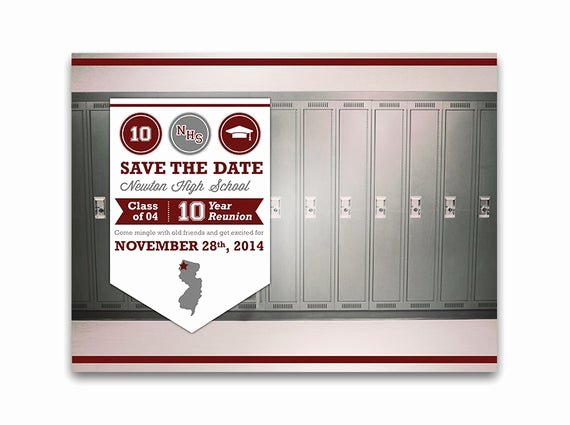 Save the Date Class Reunion Unique Maroon Class Reunion Save the Date