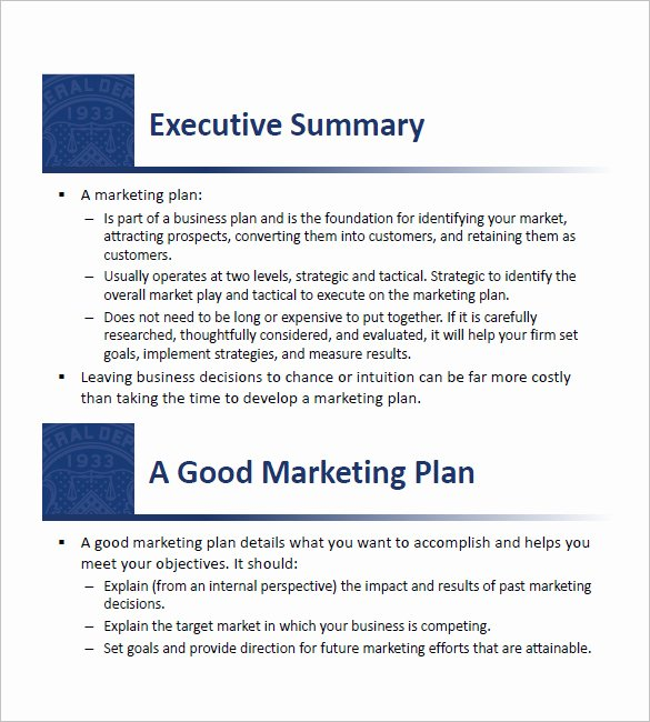Sba Business Plan Template Elegant 15 Small Business Marketing Plan Templates Free Pdf