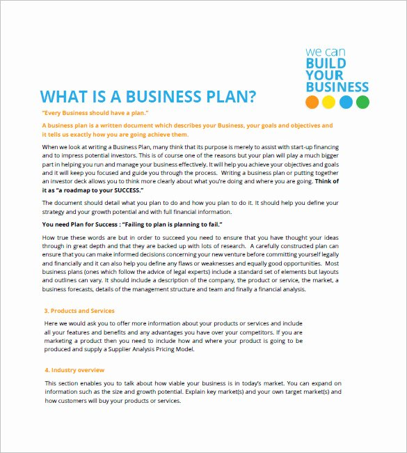 Sba Business Plan Template Elegant Small Business Plan Template 18 Word Excel Pdf Google