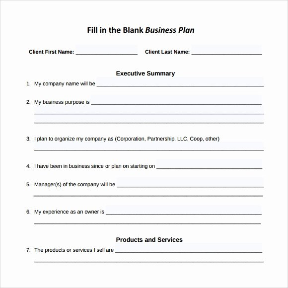 Sba Business Plan Template Inspirational Sample Small Business Plan 18 Documents In Pdf Word