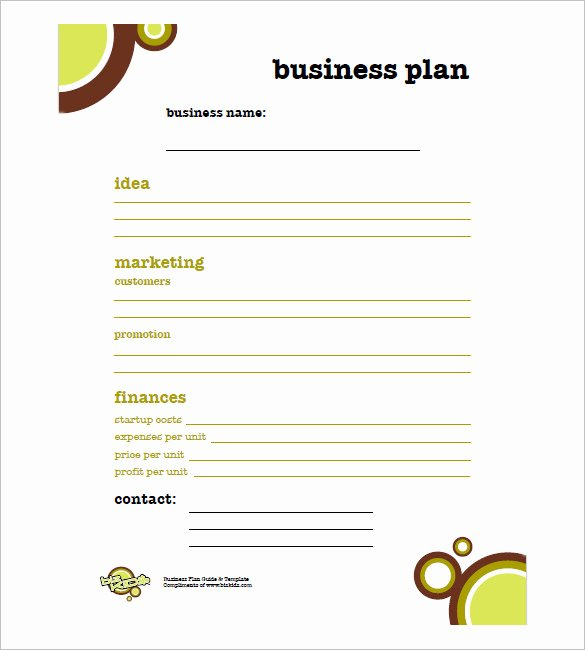 Sba Business Plan Template Lovely Simple Business Plan Template 20 Free Word Excel Pdf