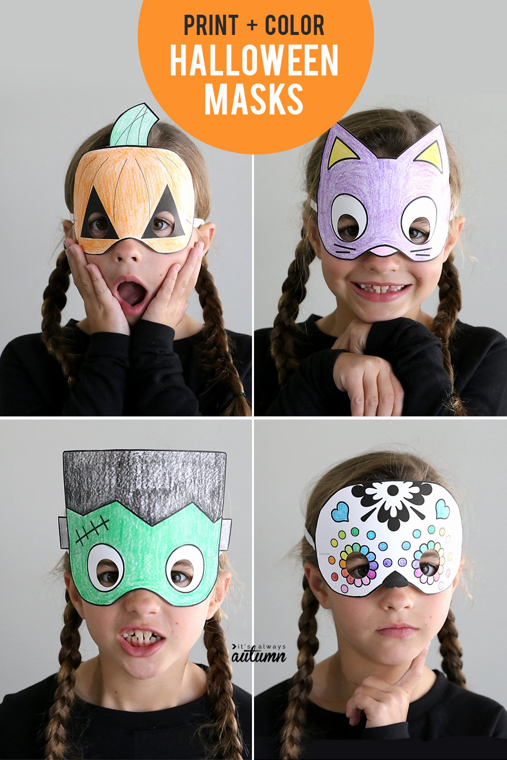 Scary Masks for Kids Beautiful Halloween Masks to Print and Color It S Always Autumn