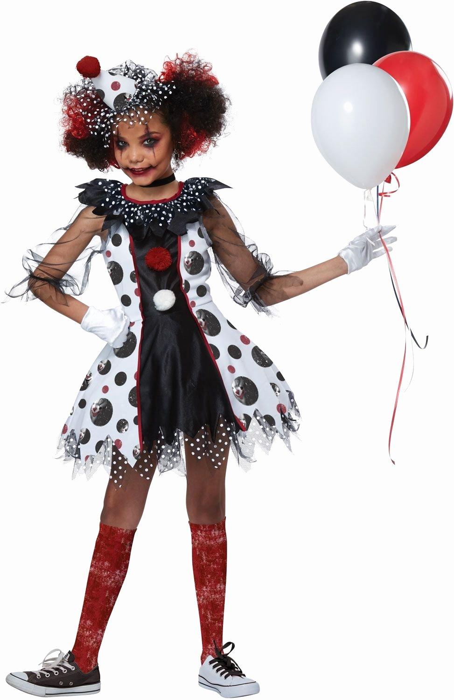 Scary Masks for Kids Elegant Polka Dots Clown Girls Halloween Costume