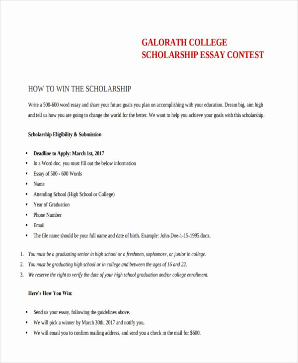 Scholarship Application Essay Sample Awesome Essay Contest Scholarship 2011