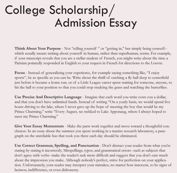 Scholarship Application Essay Sample Fresh 8 Samples Of College Application Essay format and Writing