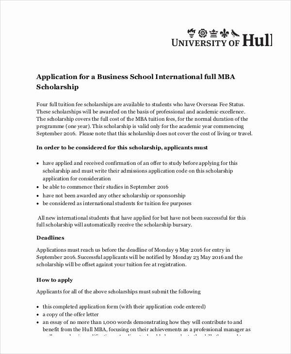 Scholarship Application Essay Sample Unique Sample Scholarship Application Essay 6 Examples In Word