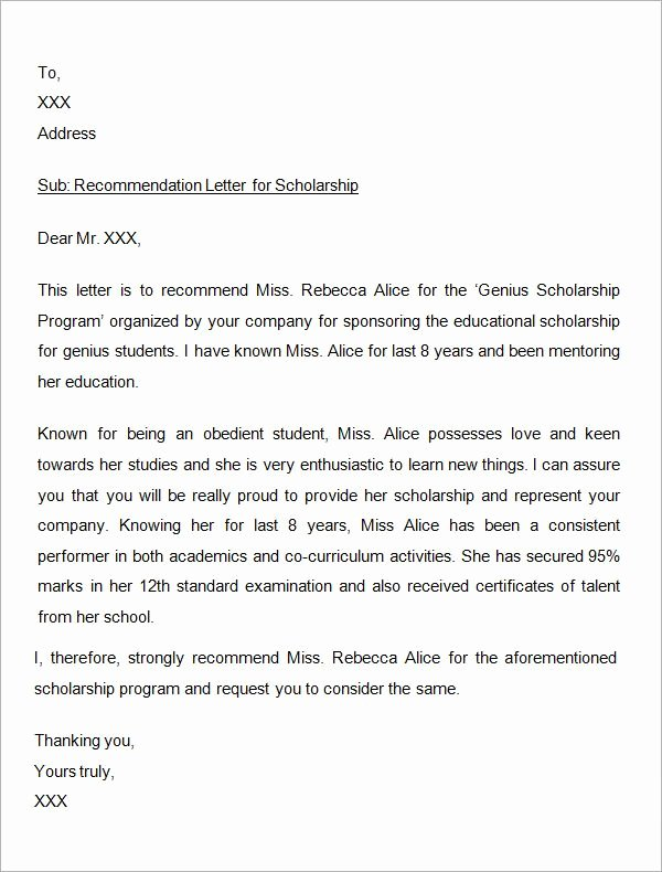 Scholarship Recommendation Letter Sample Best Of Best 25 Employee Re Mendation Letter Ideas On Pinterest