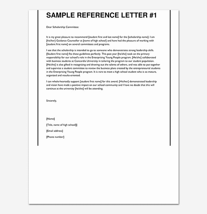 Scholarship Recommendation Letter Samples Beautiful Scholarship Reference Re Mendation Letter Sample Letters