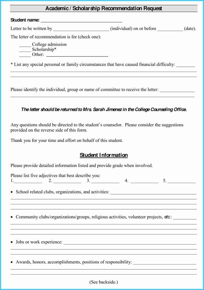 Scholarship Recommendation Letter Template Luxury Scholarship Reference and Re Mendation Letters Best