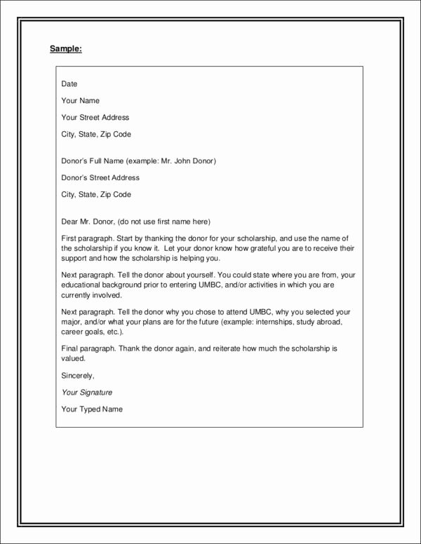 Scholarship Thank You Letter Examples Best Of Writing College Scholarship Thank You Letters