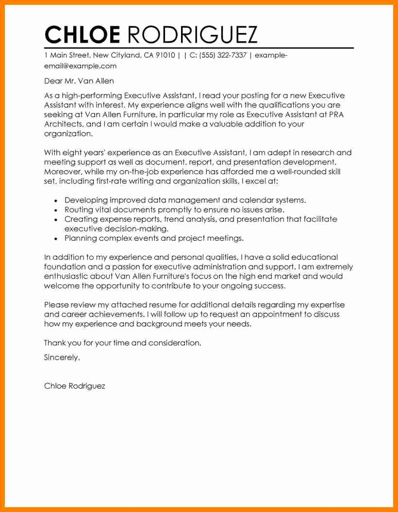 School Administrative assistant Cover Letter New 5 Cover Letter Example for Administrative assistant