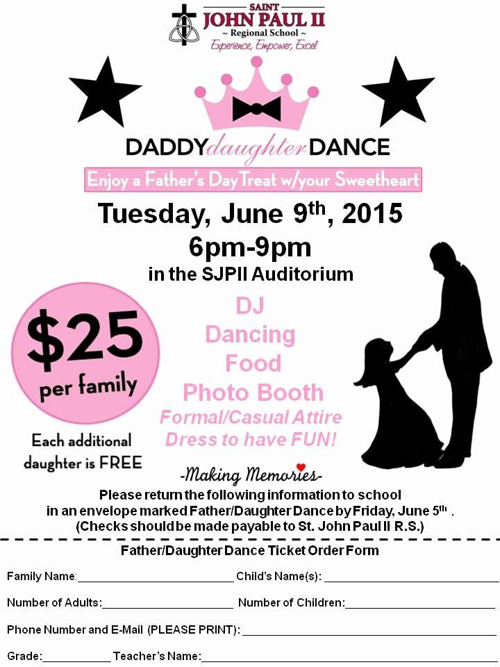 School Dance Flyer Template Awesome Daddy Daughter Dance Flyer – St John Paul Ii Regional School