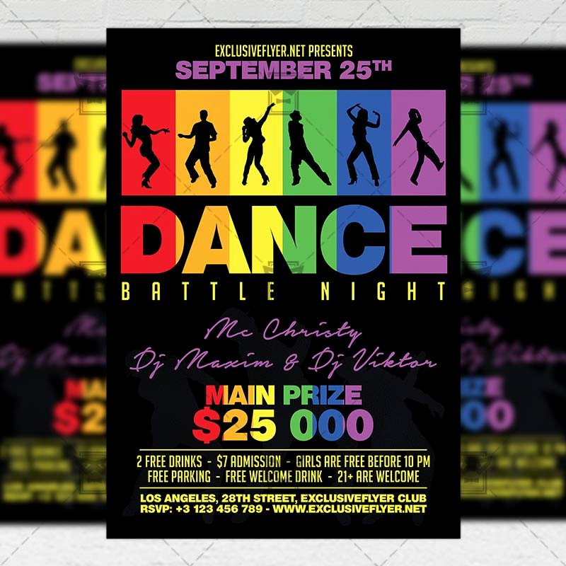 School Dance Flyer Template Awesome Dance Battle Night Flyer – Club A5 Template